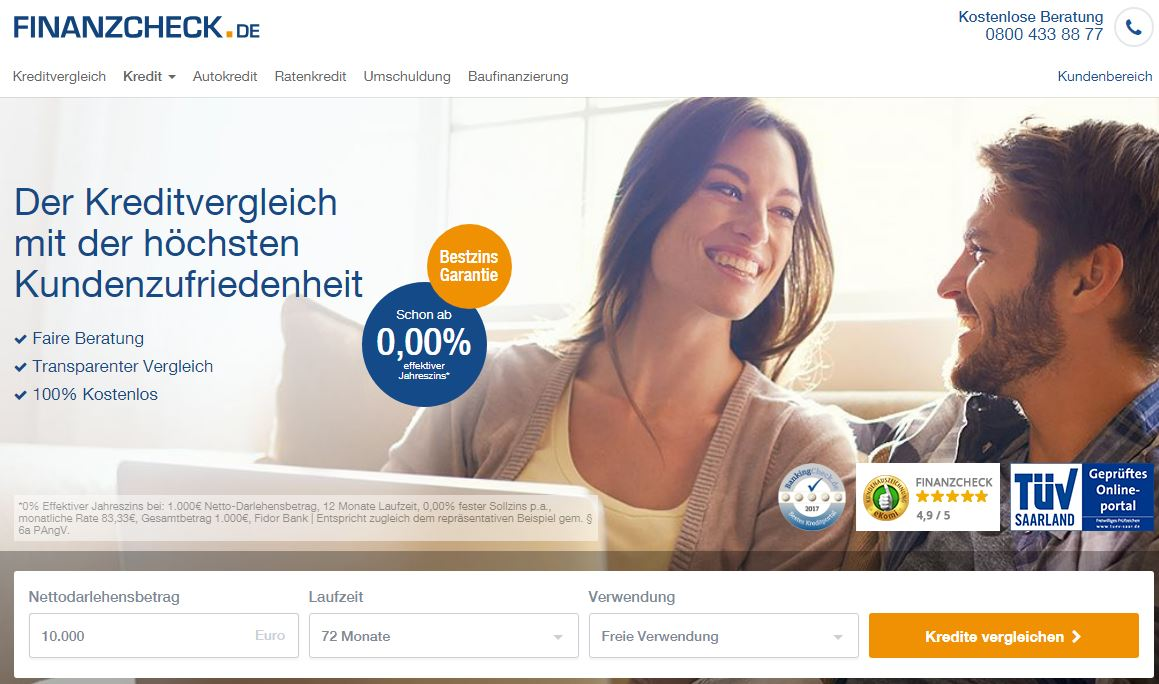 German online comparison portal for consumer credits sold